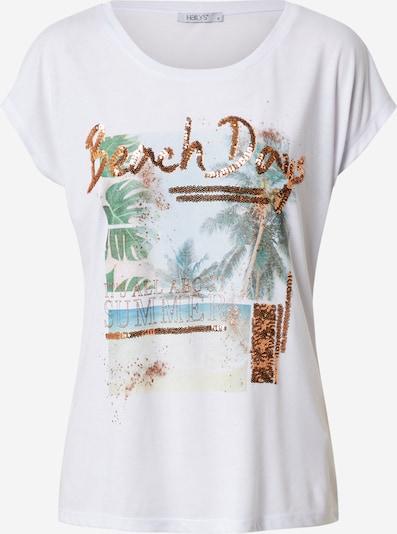 Hailys Shirt 'Mally' in mischfarben / weiß, Produktansicht