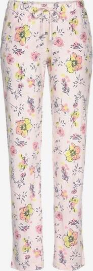s.Oliver Pantalon de pyjama en jaune / rose clair / rose foncé, Vue avec produit