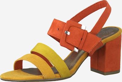 MARCO TOZZI Páskové sandály - žlutá / červená, Produkt