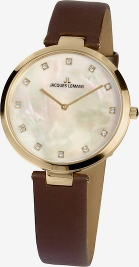 Jacques Lemans Uhr 'Milano, 1-2001B' in braun / gold, Produktansicht