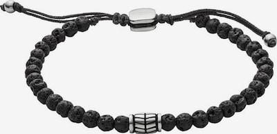 FOSSIL Armband in schwarz / silber: Frontalansicht