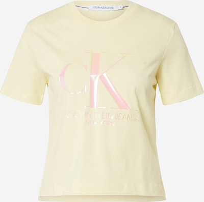 Calvin Klein T-shirt 'IRIDESCENT' en jaune / rose, Vue avec produit