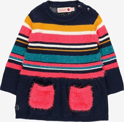 BÒBOLI Strickkleid in navy / mischfarben / orange / pink / weiß, Produktansicht