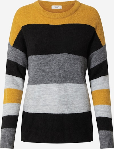 JACQUELINE de YONG Trui in de kleur Goudgeel / Grijs / Zwart, Productweergave