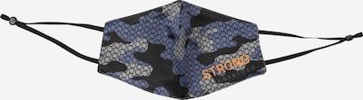 DELICATELOVE Stoffmaske  'Camouflage' in blau / schwarz, Produktansicht