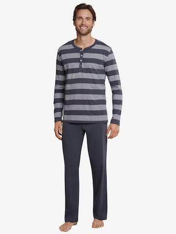 SCHIESSER Pajamas long in Grey