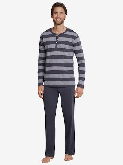 SCHIESSER Pyjama lang in de kleur Grijs / Lichtgrijs, Modelweergave