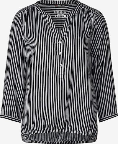 STREET ONE Crêpe-Bluse in schwarz, Produktansicht
