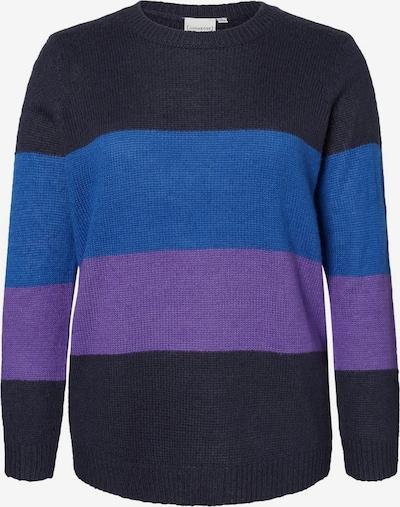 Junarose Pullover in blau / ultramarinblau / neonlila, Produktansicht