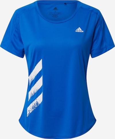 Tricou funcțional 'RUN IT TEE 3S W' ADIDAS PERFORMANCE pe albastru / alb, Vizualizare produs