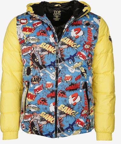 TOP GUN Winterjacke 'Fun' in rauchblau / gelb / mischfarben, Produktansicht