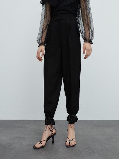 EDITED Hose 'Lucca' in schwarz, Modelansicht