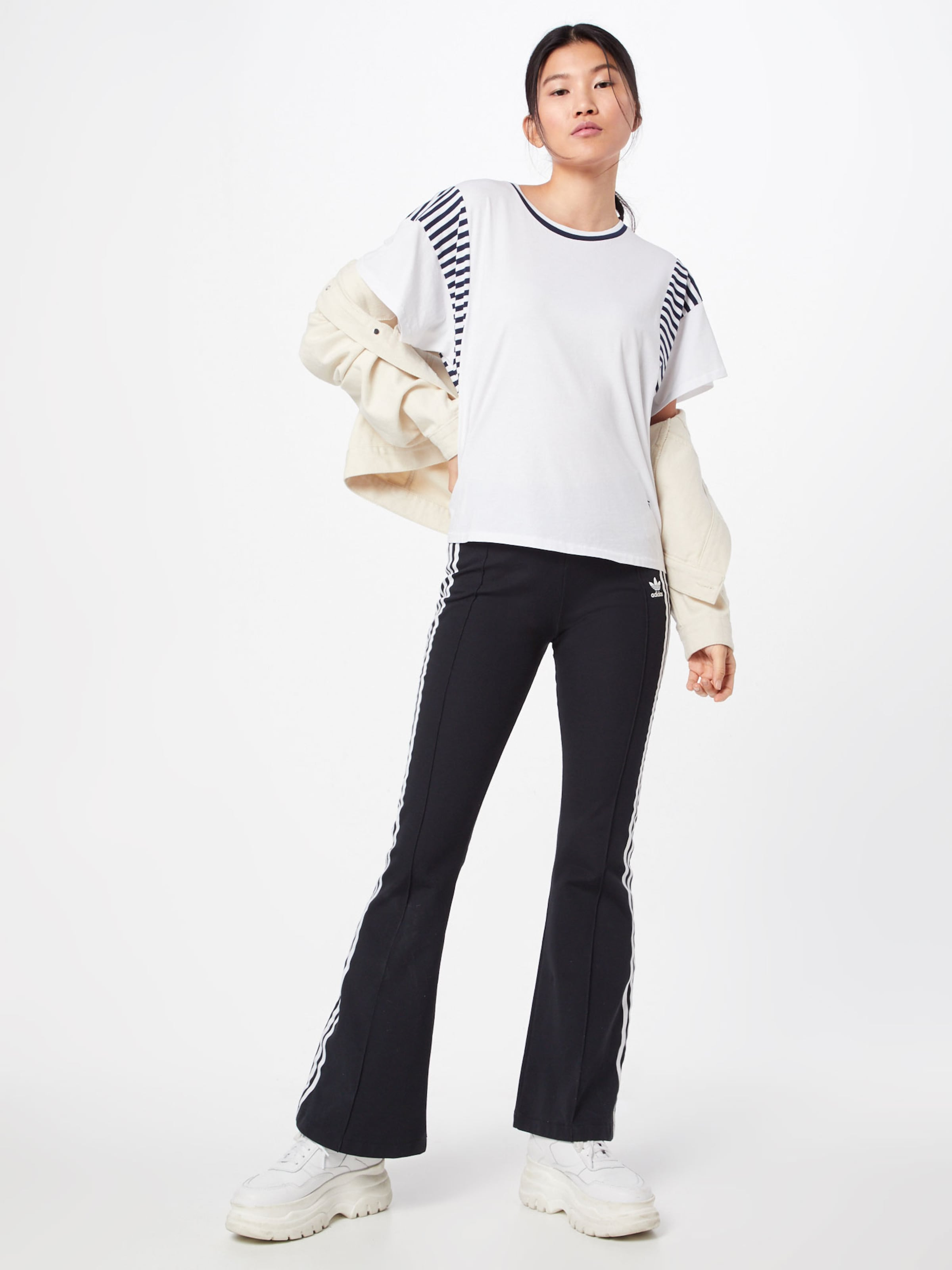 Loose' In T NavyWeiß shirt Raw G star 'norcia T3uFclK1J5