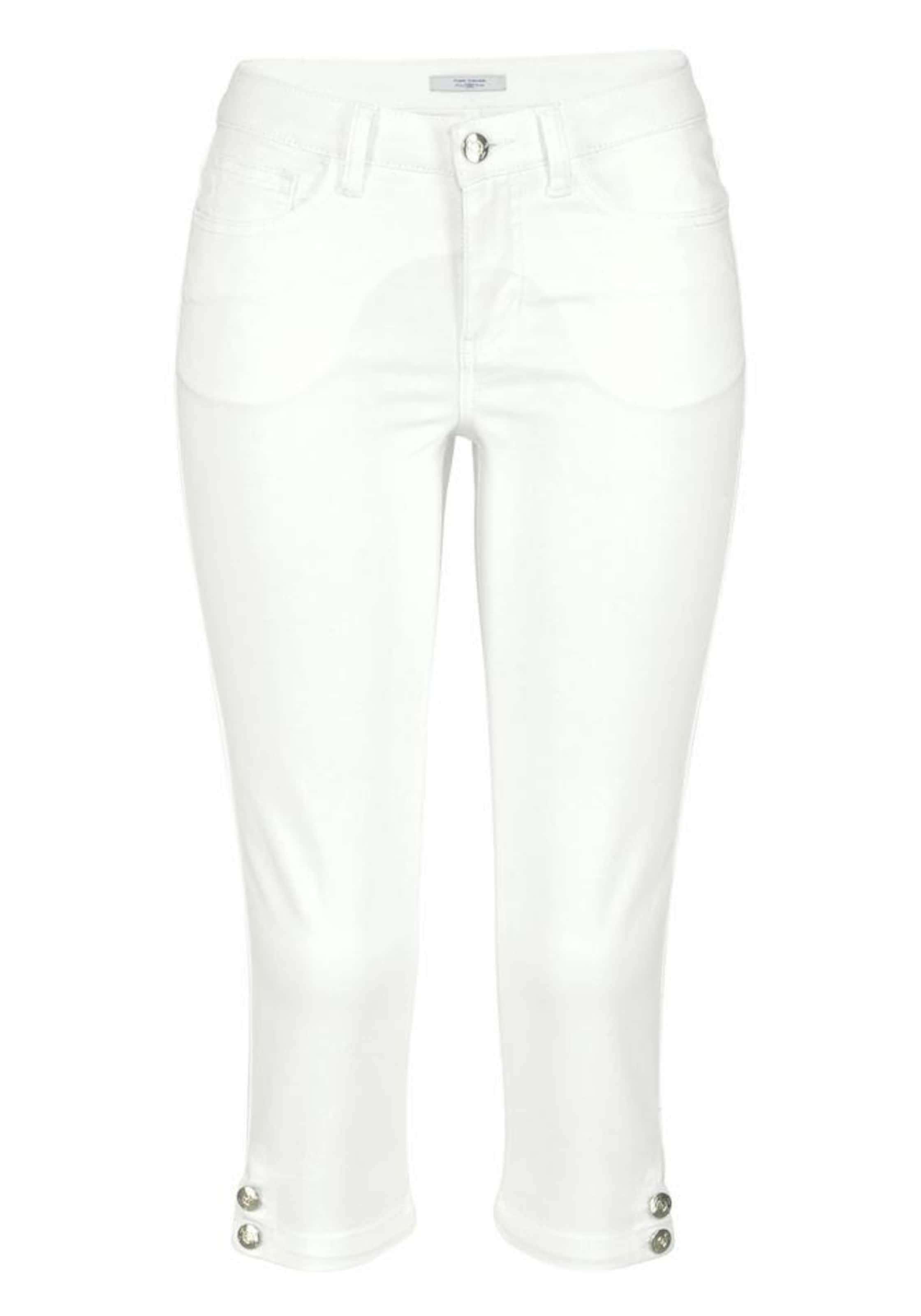 Polo Tailor Caprihose Weiß In Tom Team OTwikPZXu
