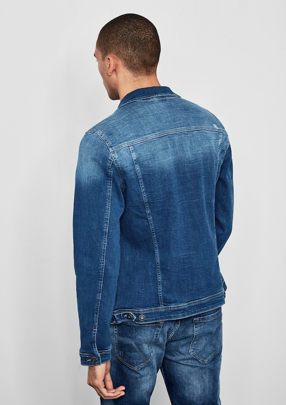 Q/S designed by Stretchige Jeansjacke mit Backprint