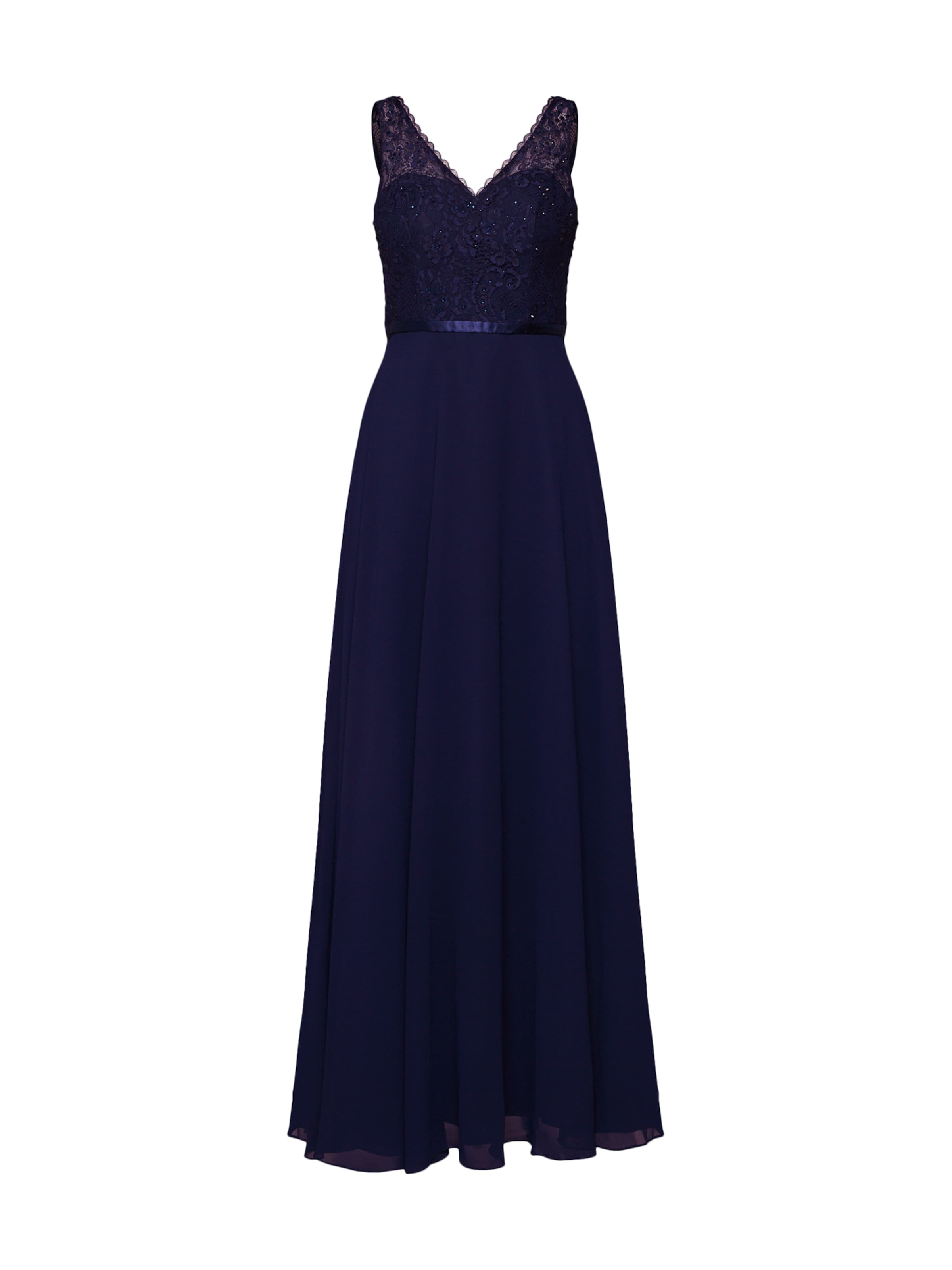 Soirée En Laona Bleu Marine Robe De 2EHD9I