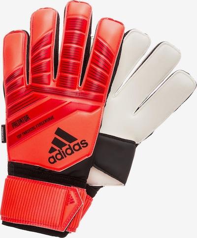 ADIDAS PERFORMANCE Sporthandschoenen 'Predator Top Training Fingersave' in de kleur Rood / Zwart / Wit, Productweergave