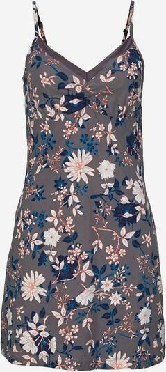 s.Oliver Bodywear Negligé mit Satin am Ausschnitt in blau / taupe, Produktansicht