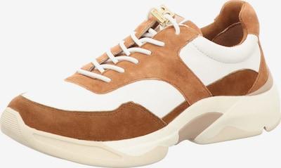 TAMARIS Schnürschuhe in braun / weiß, Produktansicht