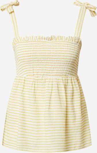 VERO MODA Top 'ELI' in gelb / weiß, Produktansicht