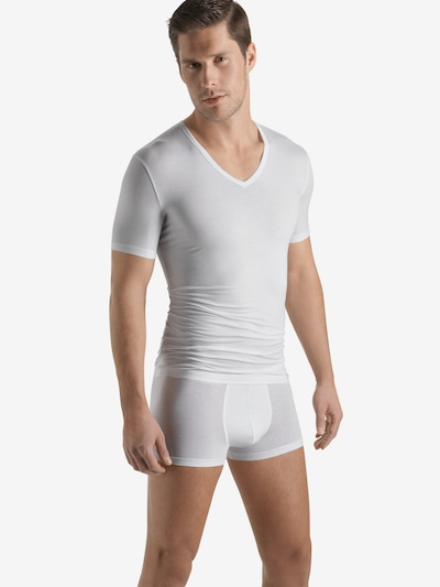 Hanro Onderhemd ' Cotton Sensation ' in de kleur Wit, Modelweergave