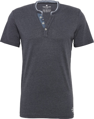 TOM TAILOR Shirt 'NOS basic melange henley'