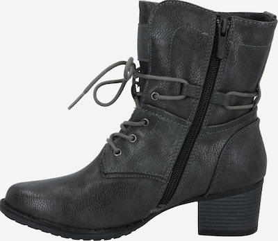MUSTANG Lace-up bootie in grey / graphite, Item view