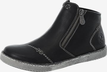 RIEKER Boots in Schwarz