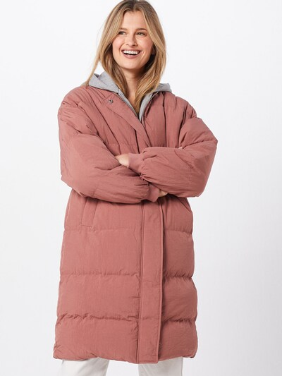 Missguided Zimski plašč 'Longline Puffer Jacket' | roza barva: Frontalni pogled