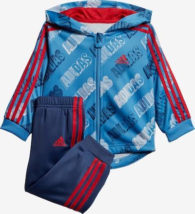 ADIDAS PERFORMANCE Trainingsanzug 'Shiny' in navy / hellblau / rot / weiß, Produktansicht