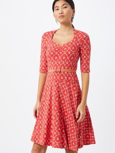 Blutsgeschwister Kleid in rot, Modelansicht