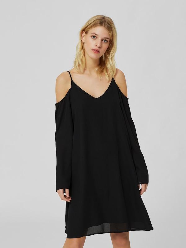 selected femme drapiertes kleid mit langen rmeln in. Black Bedroom Furniture Sets. Home Design Ideas