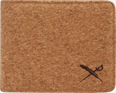 Iriedaily Porte-monnaies 'Cork Flag' en noisette, Vue avec produit