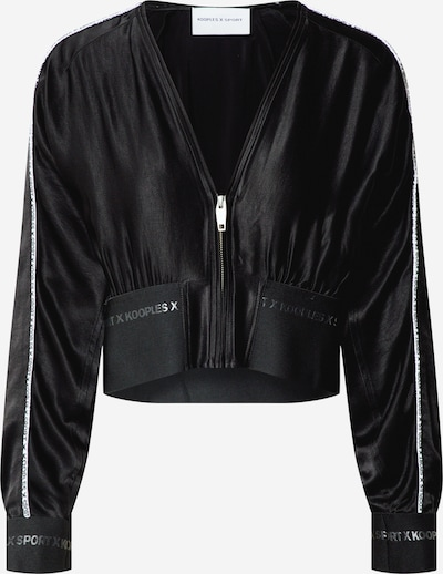 THE KOOPLES SPORT Sweatjacke 'VESTE' in schwarz, Produktansicht