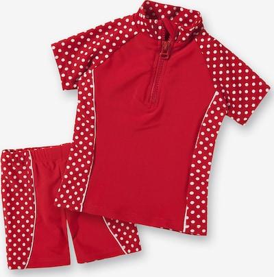 PLAYSHOES 2-teiliger Kinder Schwimmanzug in rot, Produktansicht