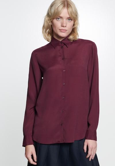 SEIDENSTICKER Hemdbluse ' Schwarze Rose ' in rot, Modelansicht