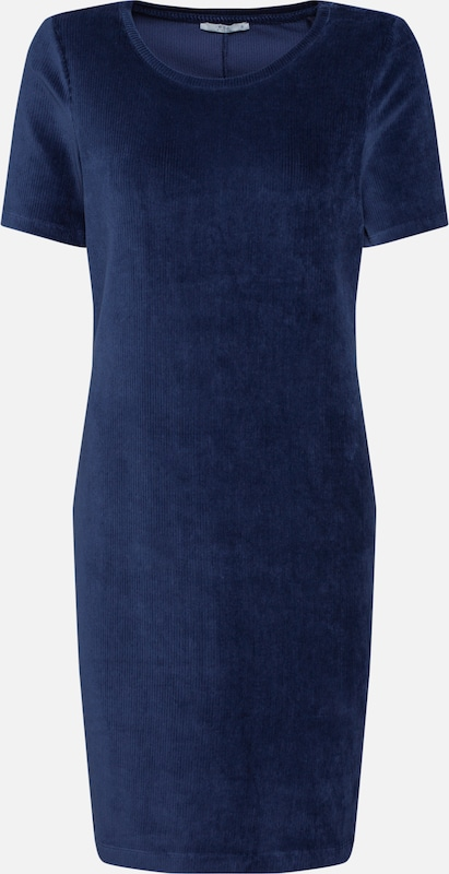 EDC BY ESPRIT Jurk 'corduroy dress' in de kleur Navy, Productweergave