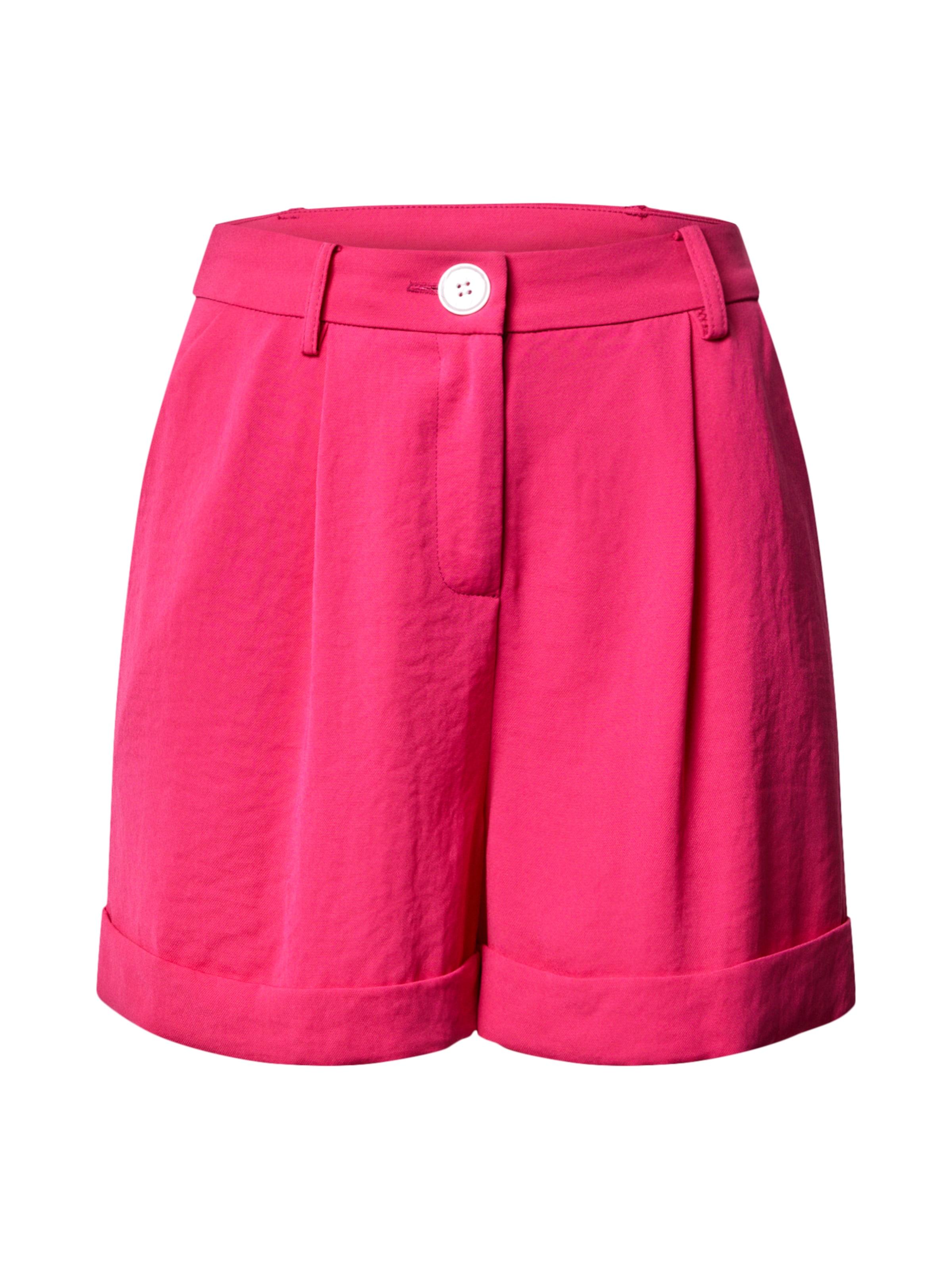 Miss Selfridge Shorts 'Hot Pink Button Short' in pink
