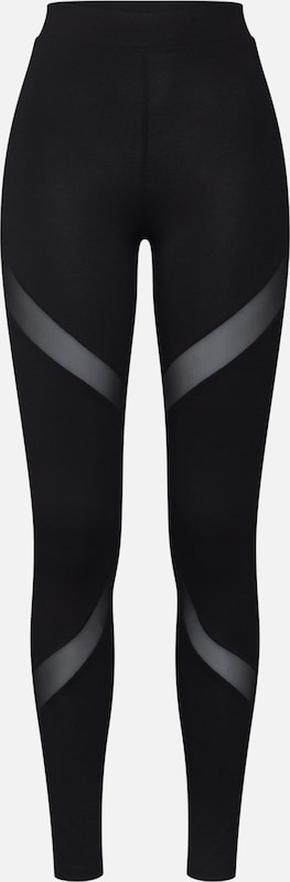 ABOUT YOU Leggings  'Rebecca' in schwarz: Frontalansicht