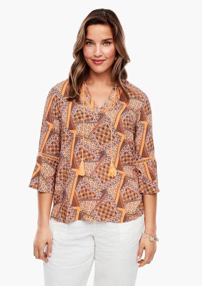 TRIANGLE Bluse in mischfarben / orange, Modelansicht
