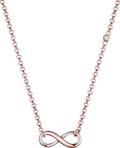 ELLI PREMIUM Halskette Infinity in rosegold, Produktansicht