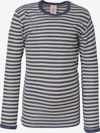 ENGEL Unterhemd in himmelblau / wollweiß, Produktansicht