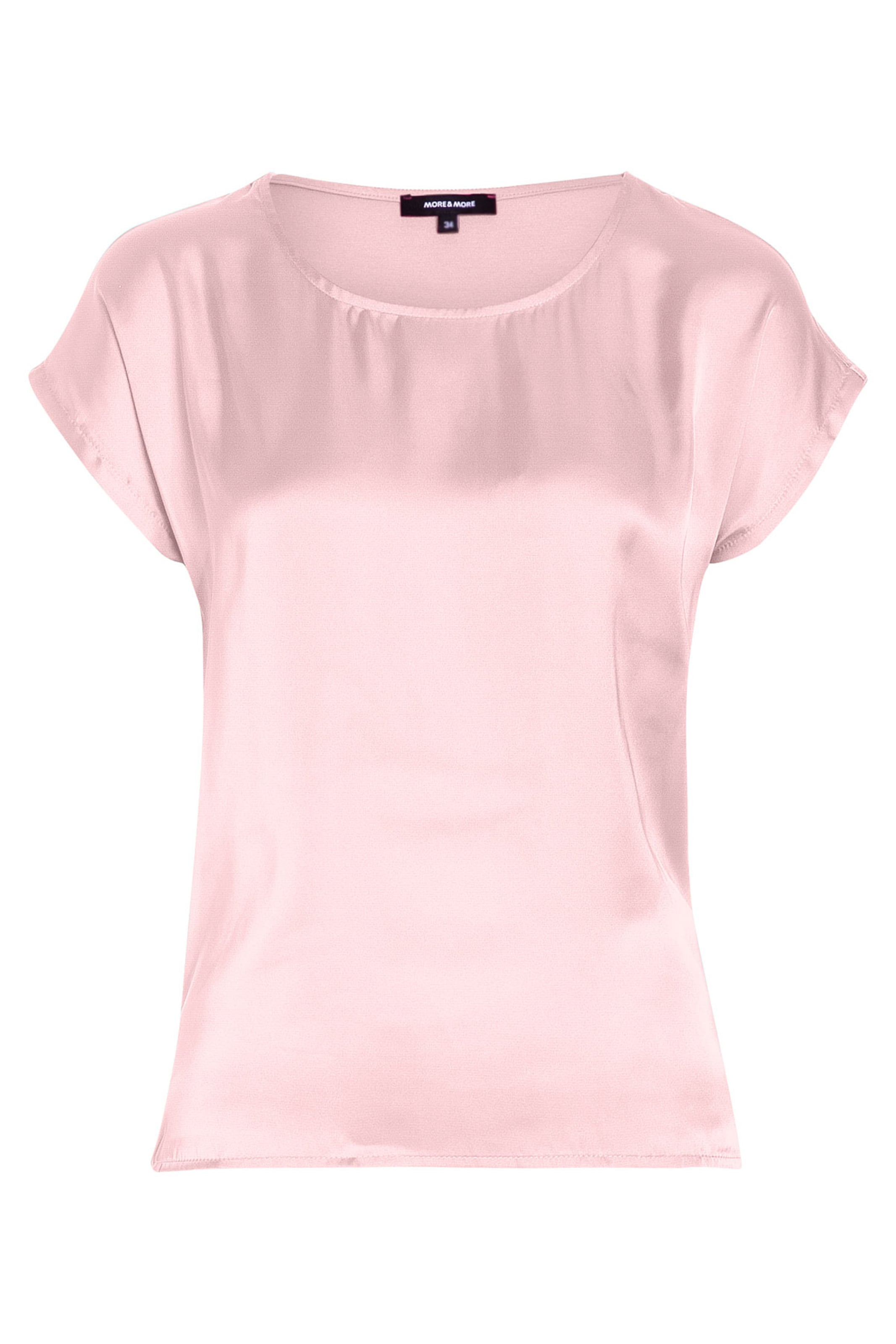 MORE & MORE Shirt mit Satinfront, pink