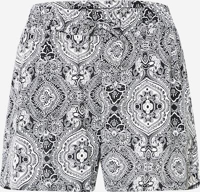 Urban Classics Pantalon en noir / blanc, Vue avec produit