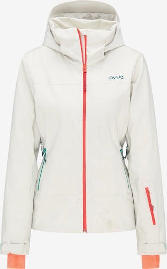 PYUA Skijacke 'Blister' in weiß, Produktansicht