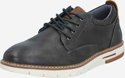 MUSTANG Čevlji na vezalke | rjava / bazaltno siva / pegasto siva barva, Prikaz izdelka