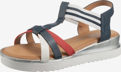 Laufsteg München Sandalette in navy / rot / weiß, Produktansicht