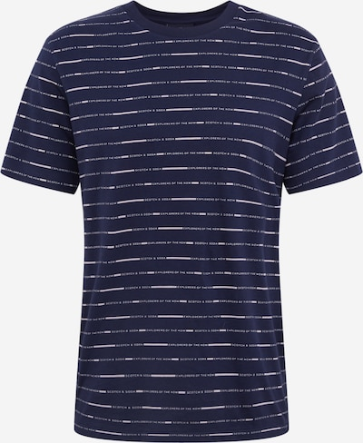 SCOTCH & SODA T-Shirt 'allover print' in dunkelblau / weiß, Produktansicht