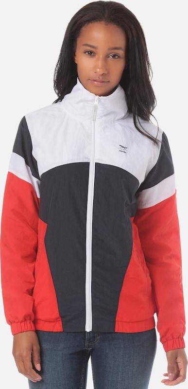 Iriedaily Jacke 'Getty' in dunkelblau     feuerrot   weiß  Markenkleidung für Männer und Frauen 990b8b