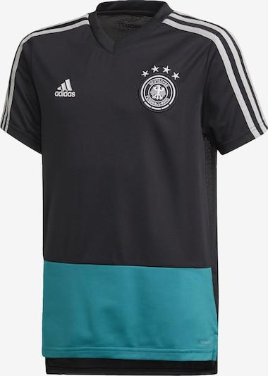 ADIDAS PERFORMANCE Functioneel shirt 'DFB' in de kleur Turquoise / Zwart / Wit: Vooraanzicht